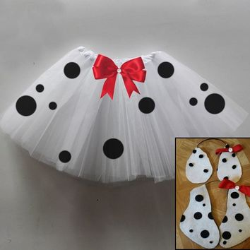 Dalmatian Tutu Set with Puppy Ears