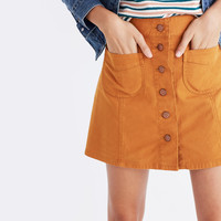 Garment-Dyed Patch-Pocket Skirt : shopmadewell mini | Madewell