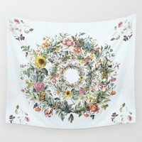 Circle of Life Blue Wall Tapestry by anipani