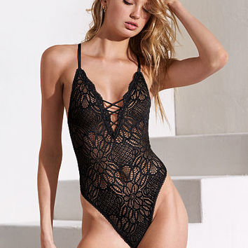 Racerback Lace Bodysuit - Dream Angels - Victoria's Secret