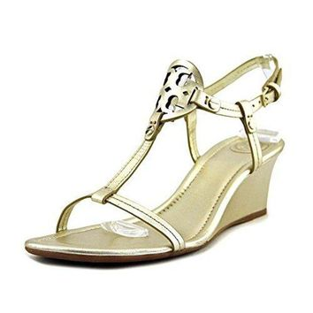 ONETOW Tory Burch Miller 60MM Wedge Women US 8 Gold Wedge Sandal