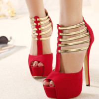 Hot style hot selling sexy thin super high heel fishmouth sandals