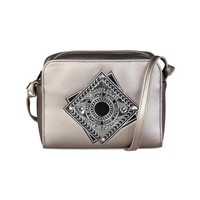 Versace Jeans Grey Leather Clutch Bag