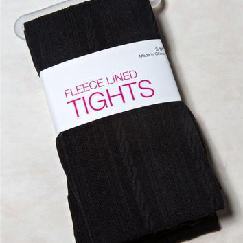 Cable Fleece Lined Tights