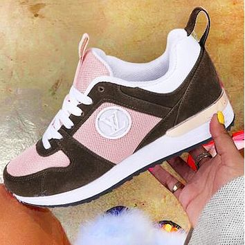Louis Vuitton LV Fashion New Print Couple Running Sports Leisure Shoes