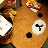 Ddoai Rilakkuma San-x Bear Cute Dining Room Bedroom Mat Rug