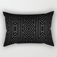 Charcoal Gray on Black Tribal Rectangular Pillow by Lyle Hatch | Society6
