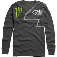 Fox Racing Monster Ricky Carmichael Replica Long Sleeve T-Shirt - 2X-Large/Charcoal | AihaZone Store