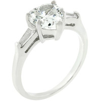 Heart Triplet Ring, size : 05