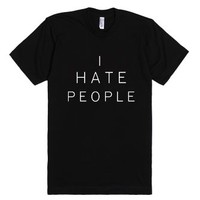 I Hate People-Unisex Black T-Shirt