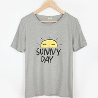 Gray Short Sleeve Graphic Tee