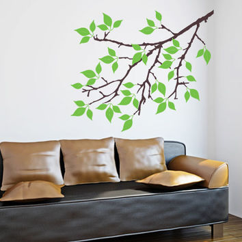 Tree Branch 2 color Wall Decal - beautiful floral decor