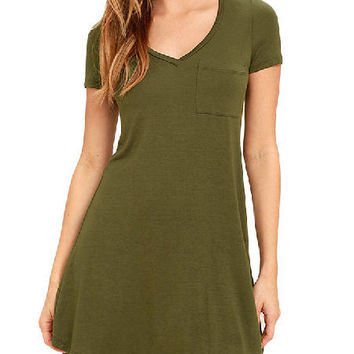Summer T-Shirt Dress - 2 Colors