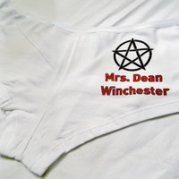 Supernatural Dean Winchester Panties. Mrs. Dean Winchester. Customize By Size, Color and Style.