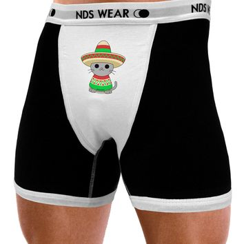 Cat with Sombrero and Poncho Mens NDS Wear Boxer Brief Underwear by TooLoud