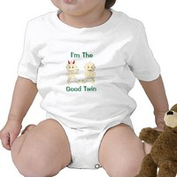 I'm The Good Twin Baby Shirt from Zazzle.com