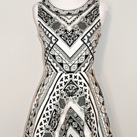 Mayan Mayhem Dress - Black/White