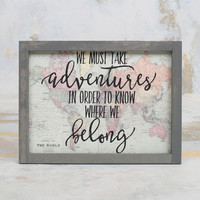 Adventures Framed Wall Art - Gifts/Home Decor
