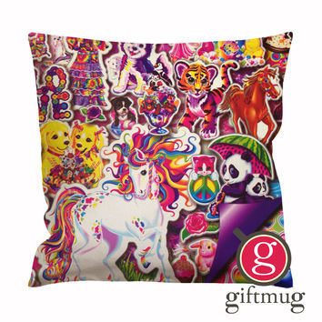 90's Lisa Frank Collage Cushion Case / Pillow Case