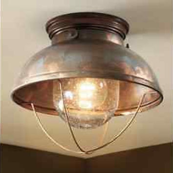 Unique Ceiling Lodge Rustic Country Antique Bronze Br Copper Lighting Light Fixture