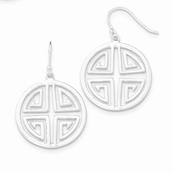 Sterling Silver Chinese Symbol Dangle Earrings