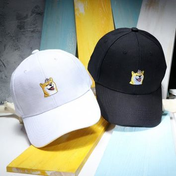 Men's Baseball Caps Cute Akita Dog Embroidery Summer Hats For Women Casual Solid Color Gorros Snapback Hombre