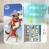 unique iphone case, i phone 4 4s 5 case,cool cute iphone4 iphone4s 5 case,stylish plastic rubber cases cover, funny animal dog  p1011