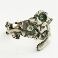 Sterling Silver Unique Floral Pinky Ring Spoon Ring by Spoonier
