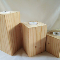 Unique Candle Holders, Block Candle Holders, Wood Candle Holders, Candle Holders