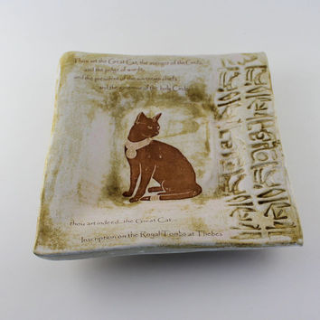 Bast Ceramic Plate - Royal Tomb Quote