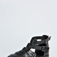 Abbie Closed Toe Buckle Chunky Flat