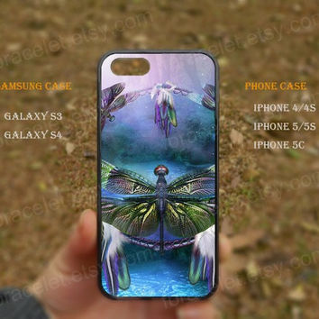 dream catcher dragonfly dreamcatcher iPhone 5s case,iPhone 5C ,Samsung Galaxy S3,S4 Case,iPhone 5 Case,iPhone 4,4s case,water proof,Gifts