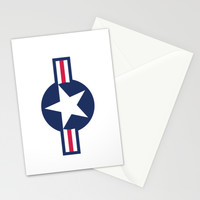 US Air force Roundel insignia Stationery Cards by Bruce Stanfield