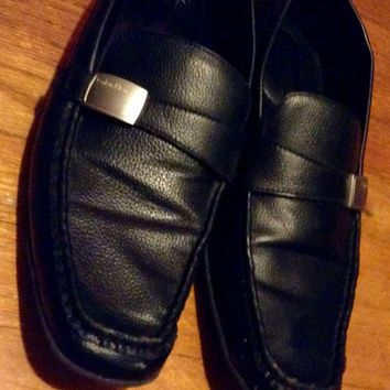 Calvin Klein Dress Shoes Men's Size 11 loafer With Buckle Formal Designer
