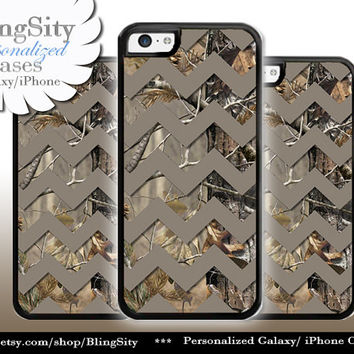 Monogram iPhone 5C 6 6 Plus Case Camo Brown Chevron iPhone 5s iPhone 4 case Ipod 4 5 case Real Tree Personalized Country Inspired Girl