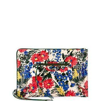 ONETOW balenciaga classic flat zip pouch floral print 2