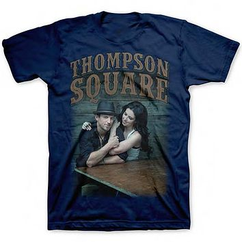 Thompson Square Logo Photo - Men's Navy Blue T-Shirt