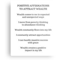 POSITIVE AFFIRMATIONS TO ATTRACT WEALTH by IdeasForArtists