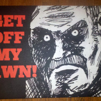 Door Welcome Mat The Get Off My Lawn Unwelcome by Valiantstudios