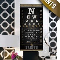 New Orleans Saints - 2009 Super Bowl Champs Eye Chart - Perfect Birthday Gift