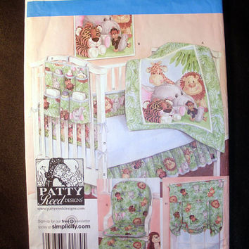 Baby Room Nursery Accessories Quilt Bumpers Wall Hanging Dust Ruffle Sewing Pattern Simplicity 3954