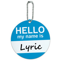 Lyric Hello My Name Is Round ID Card Luggage Tag