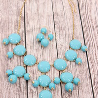 Sky Blue JCREW Inspired Bubble Necklace