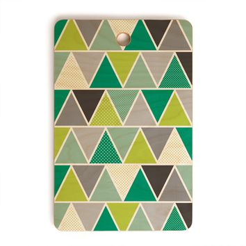 Heather Dutton Emerald Triangulum Cutting Board Rectangle
