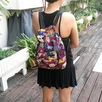 Elephant Tribal Woven Backpack Boho Hippie tapestry Ethnic Rucksack Hipster Aztec Gypsy Nepali Patterns Bags Hippie Purse Native Design
