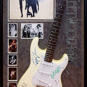 Fleetwood Mac - Signed Guitar Rumours Themed in Wood Framed Case