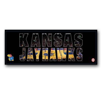 NCAA University of Kansas Jayhawks Artissimo Team Pride 36x12 Canvas Art