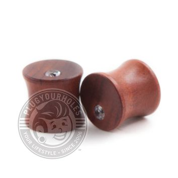 Mahogany Bling Wood Plugs