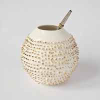Exclusive Yerba Mate Mug with Spikes Coverd with Gold