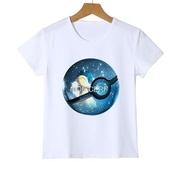 Summer children kids Starry Earth t-shirts  Go boys girlls tops tees Pikachu T shirts Baby Boys Clothes Z18-4Kawaii Pokemon go  AT_89_9